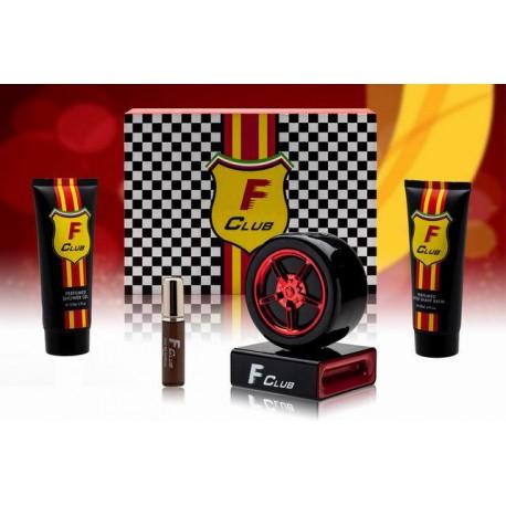 F club statuetka koło red zestaw 4 części